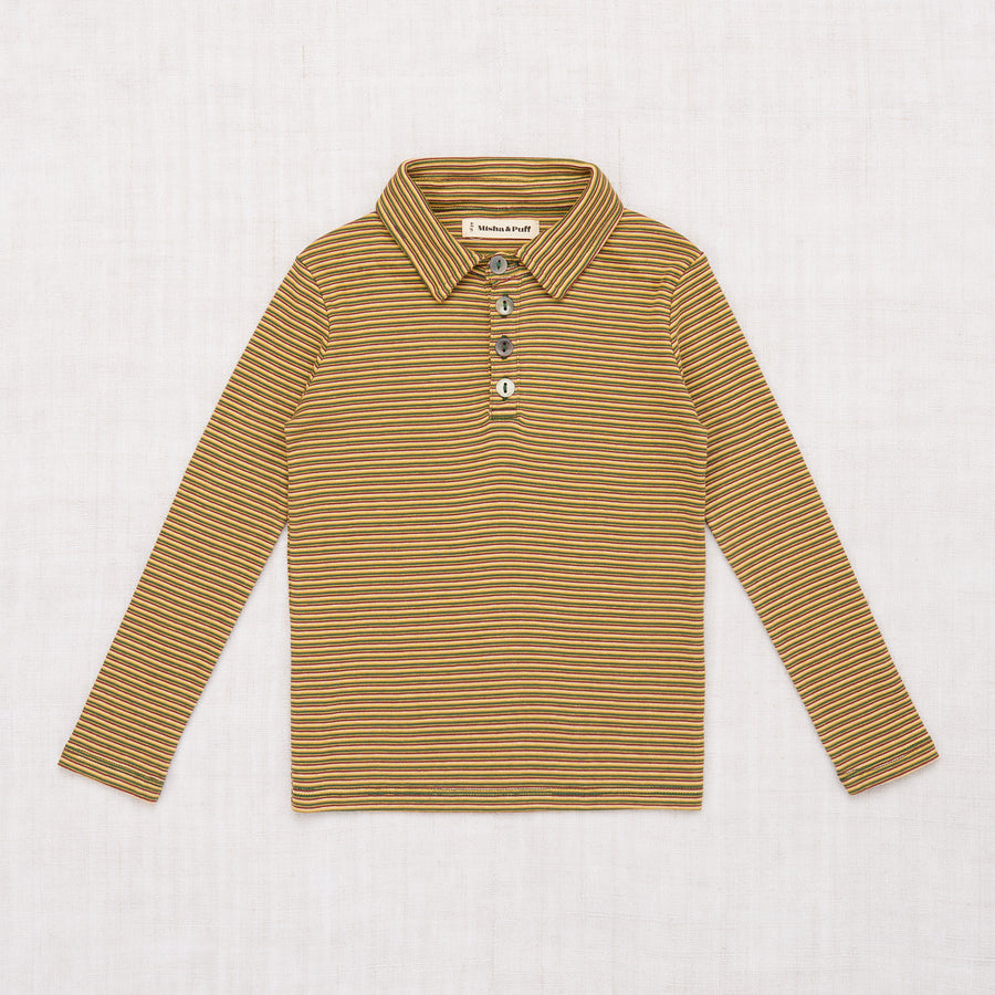 Mini Stripe Long Sleeve Polo