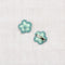 Medium crochet flower clip set - mint/dusty blue