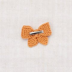 Medium Puff Bow - Apricot