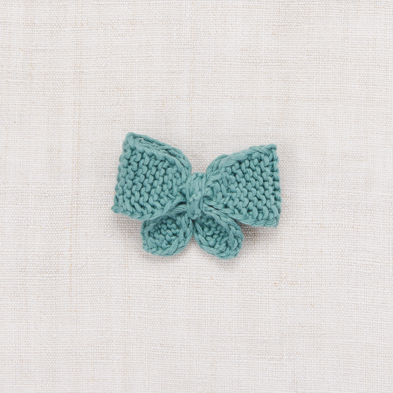 Medium Puff Bow - Dusty Blue