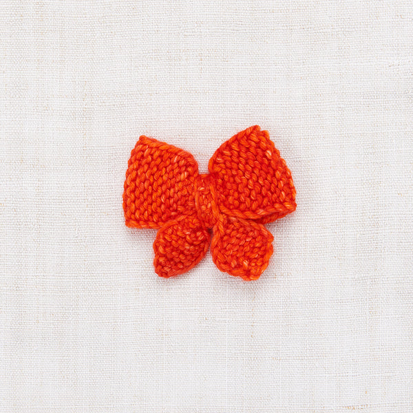 Medium Puff Bow - Hot Red