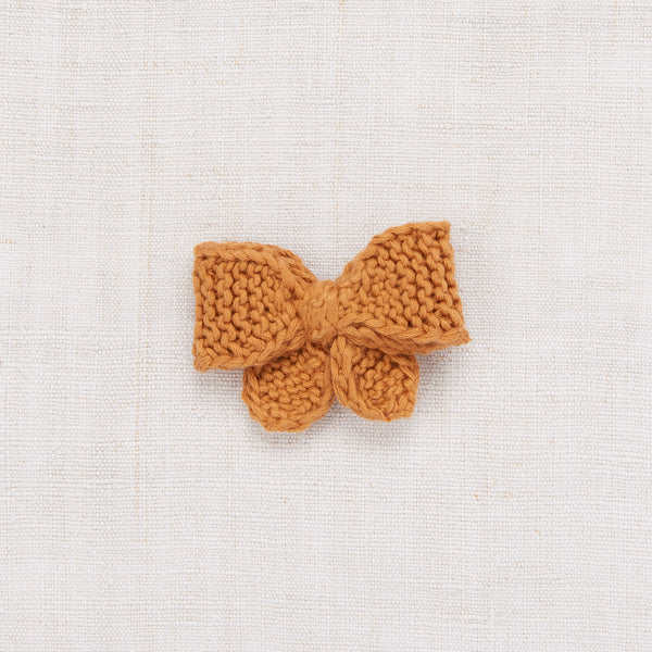 Medium Puff Bow - Caramel