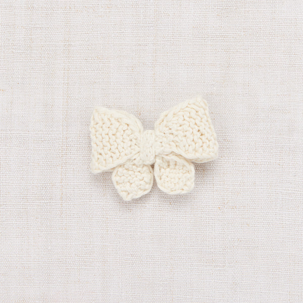 Medium Puff Bow - Vanilla