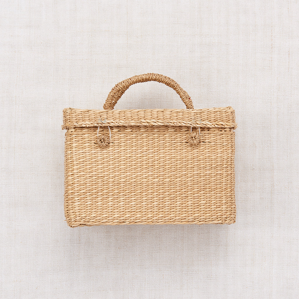 Small Straw Suitcase