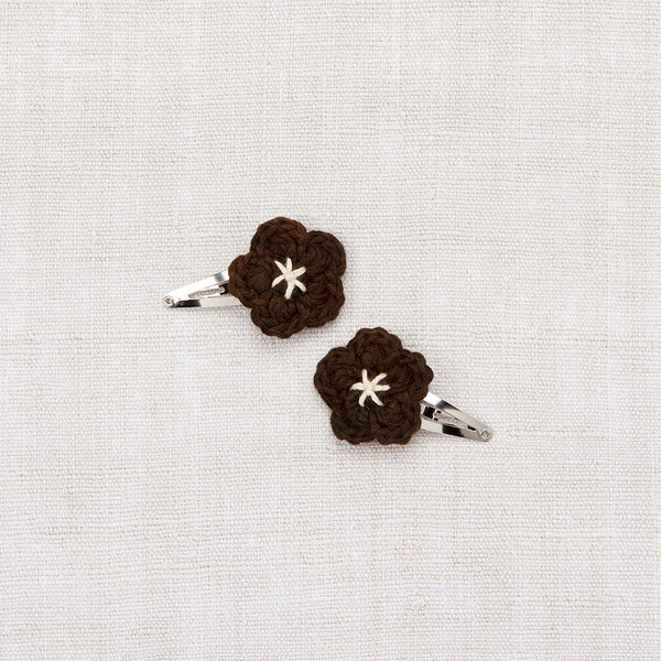 Mini Flower Clip Set - Black Walnut/ String