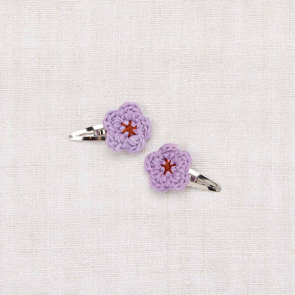 Mini Flower Clip Set - Lavender/ Rust