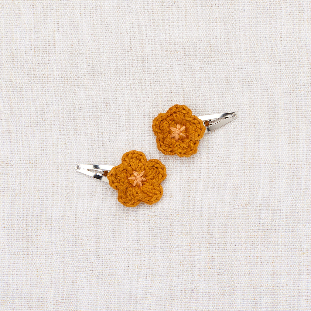Mini Flower Clip Set - Marigold/ Apricot