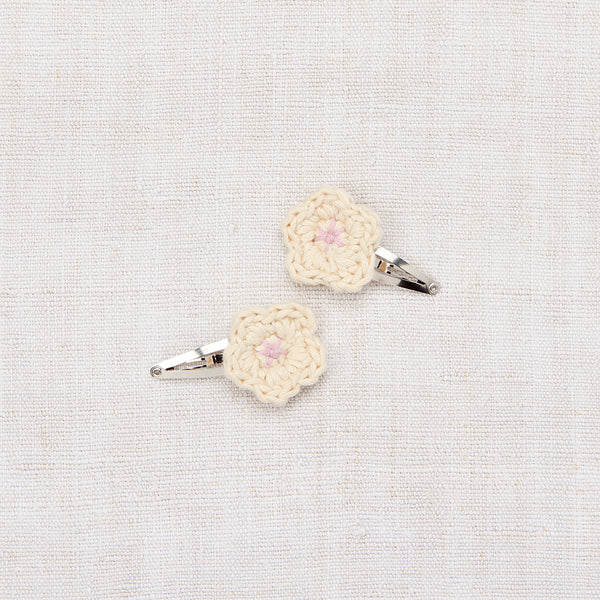 Mini Flower Clip Set - String/ Soft Purple