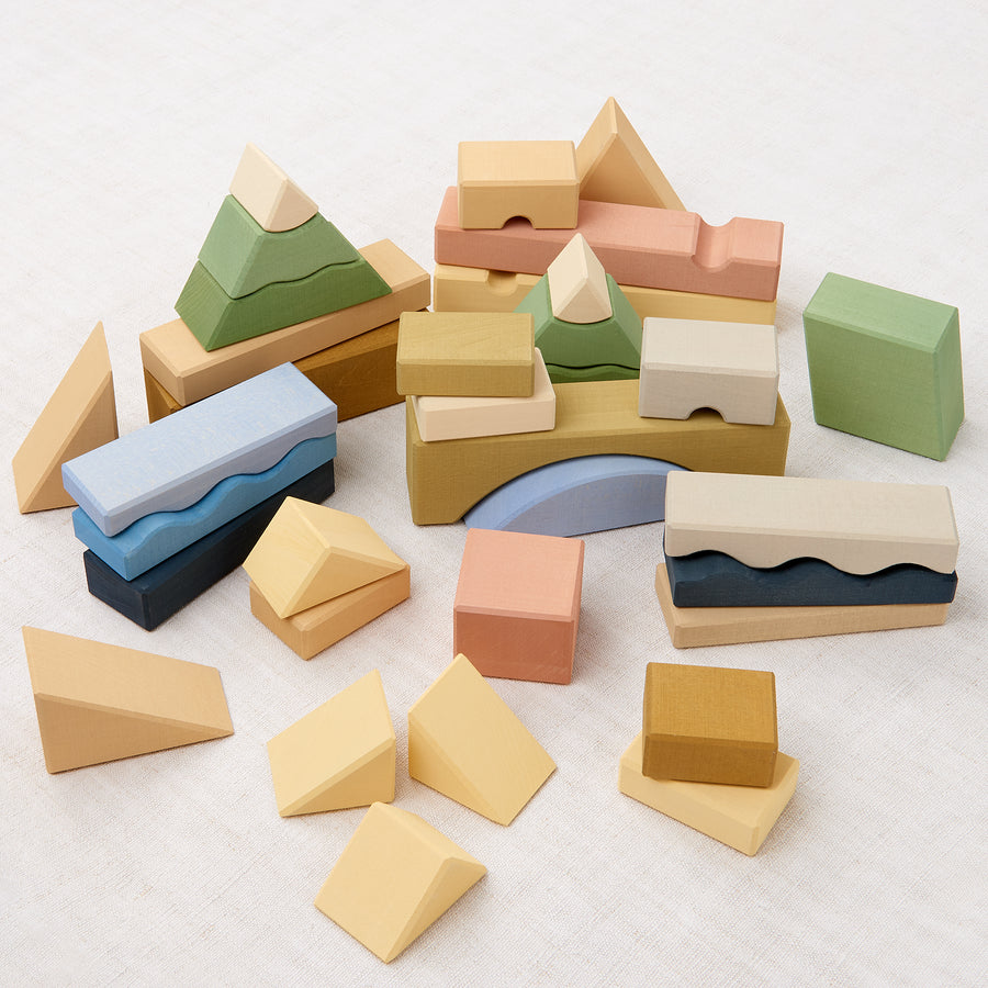 Mountains Building Blocks Set