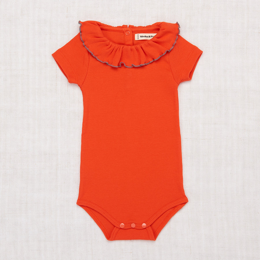 Paloma Short Slv Onesie - Crimson Red