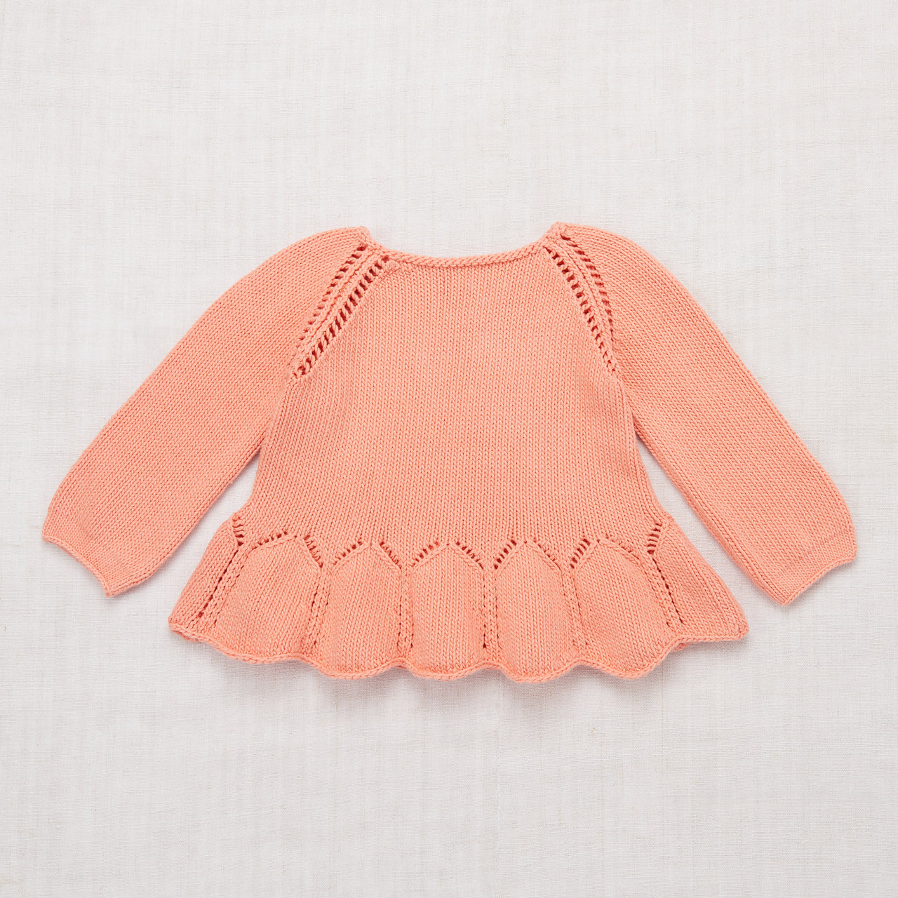 Peplum Pullover - Coral