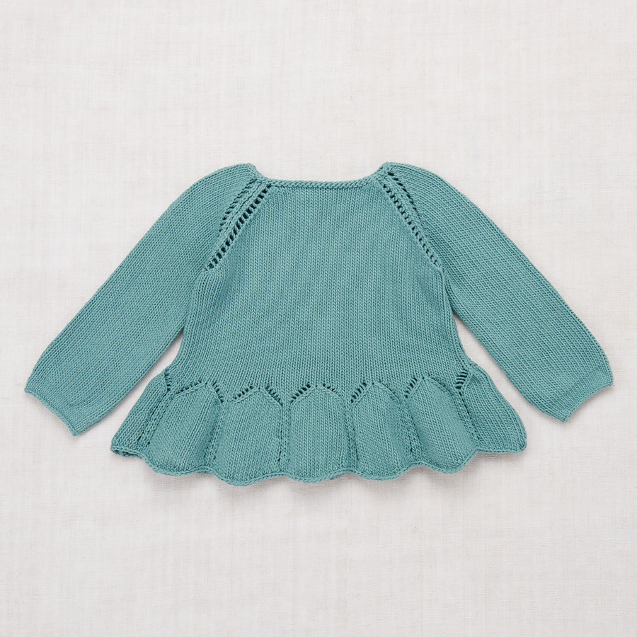 Peplum Pullover - Dusty Blue