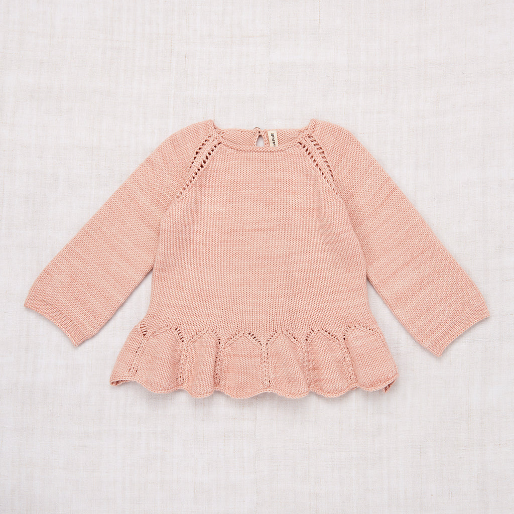 Peplum Pullover - Faded Rose