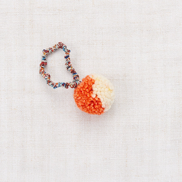 Pompom Hair Tie - Hot Red