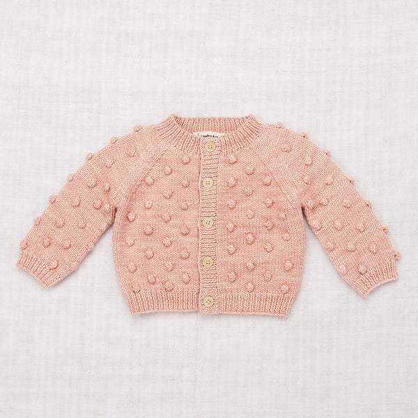 Popcorn Cardigan - Faded Rose