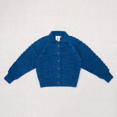 Adult Cotton Popcorn Cardigan / Indigo