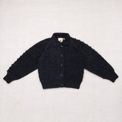 Adult Popcorn Cardigan / Midnight
