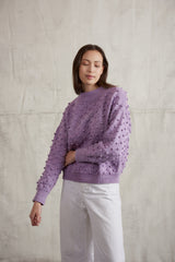 Adult Summer Popcorn Sweater / Lavender