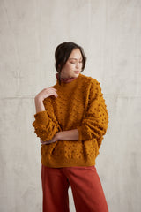 Adult Summer Popcorn Sweater / Marigold