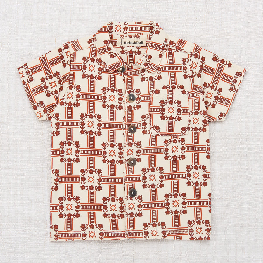 Railroad Floral Camp Shirt