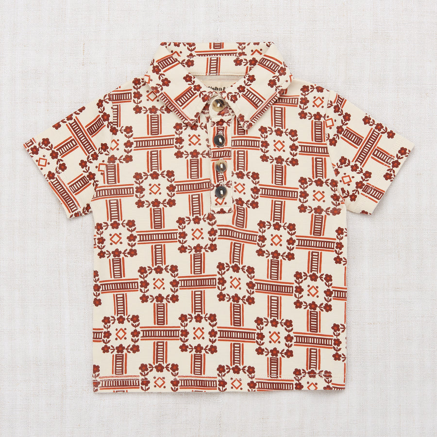 Railroad Floral Polo