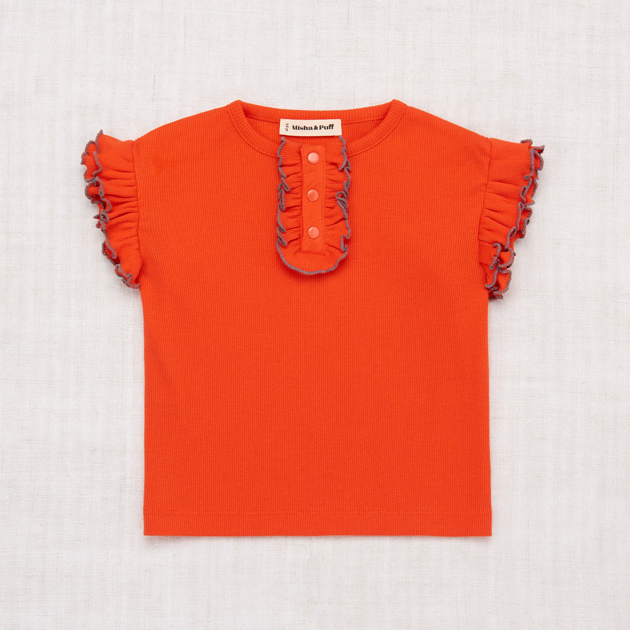 Rae Ruffle Top - Crimson Red