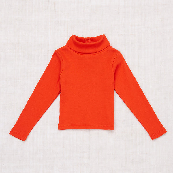 Ribbed Turtleneck - Hot Red