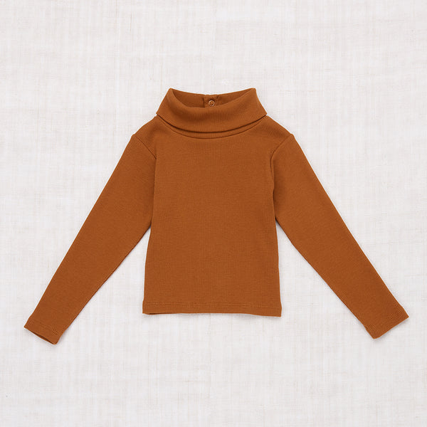 Ribbed Turtleneck -  Nutmeg
