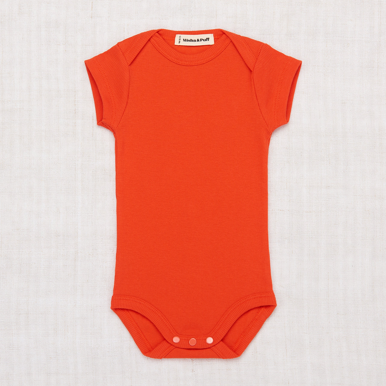 Ribbed Onesie - Crimson Red