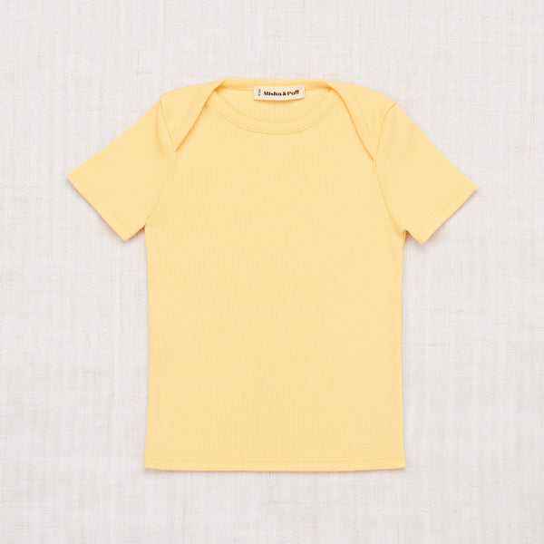 Ribbed Slim Tee - Butter