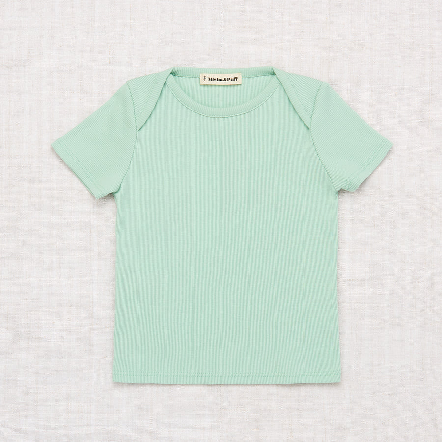 Ribbed Slim Tee - Seafoam