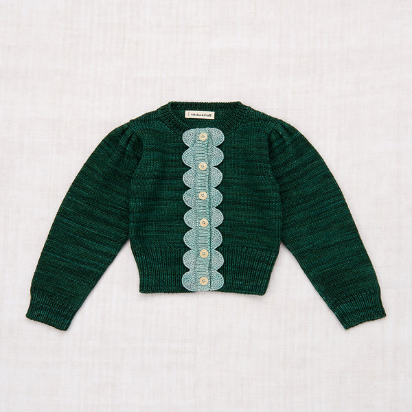 Scallop Cardigan - Laurel/Sage