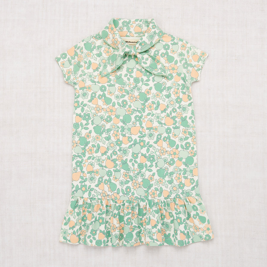 Scout Dress - Mint Orchard Print