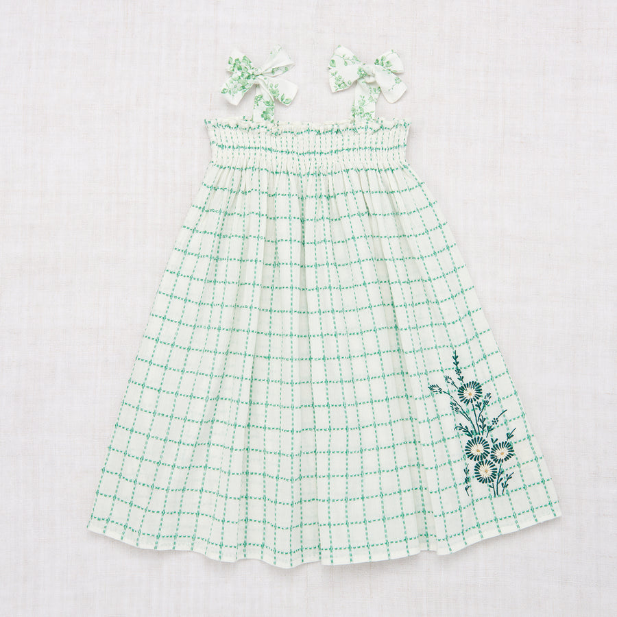 Skirt Dress - Green Check