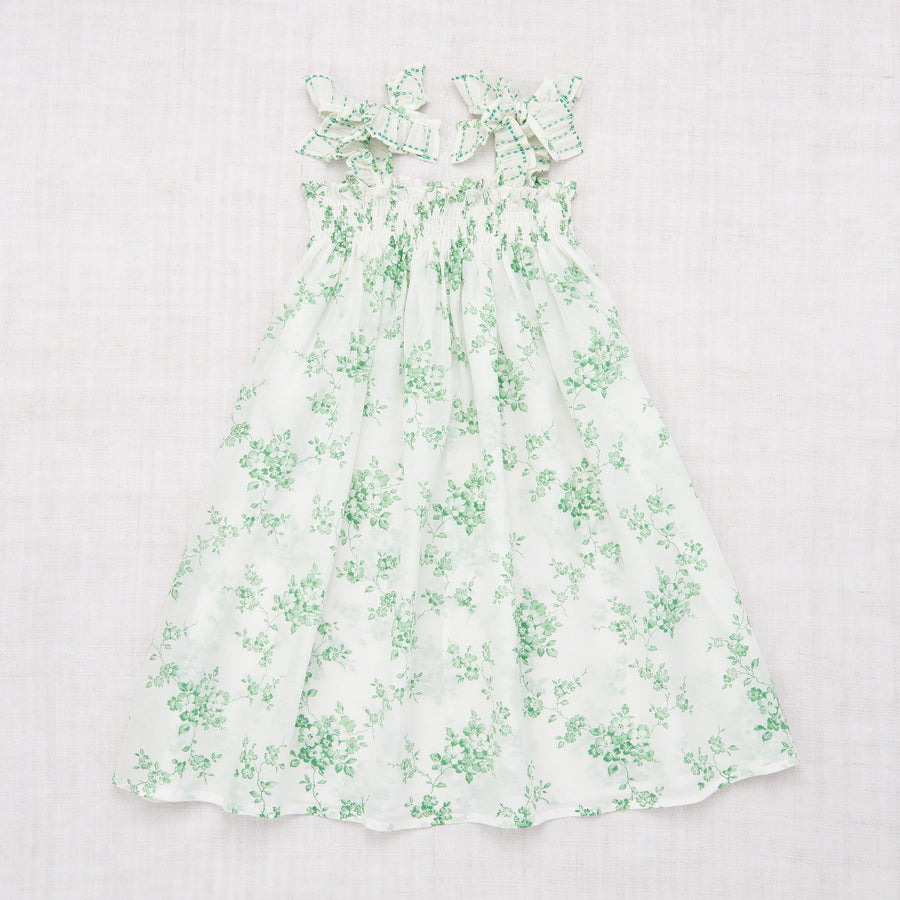 Skirt Dress - Green Flower Print