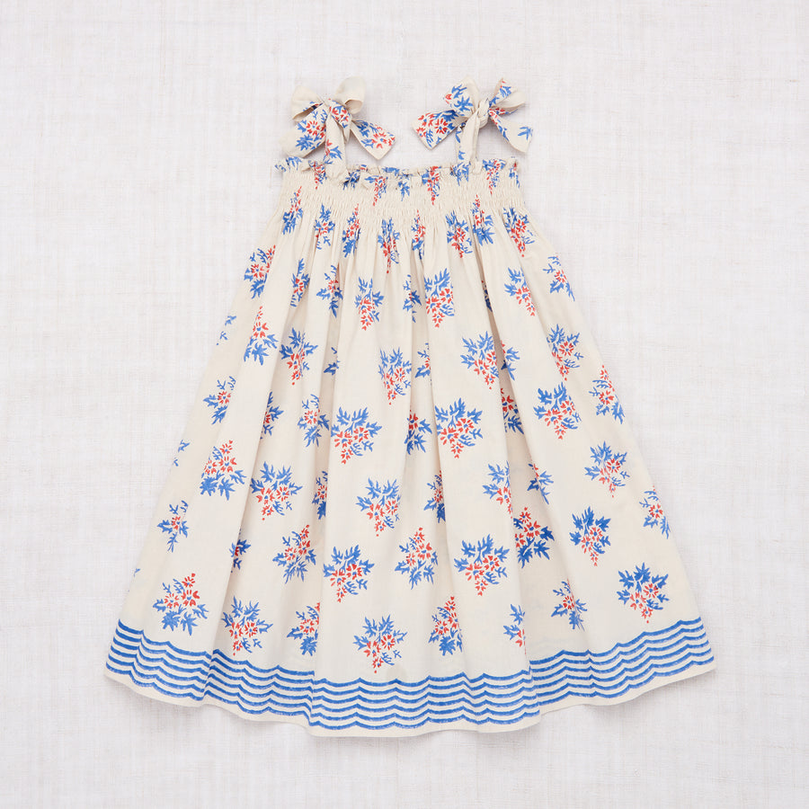 Skirt Dress - Red Blue Flower