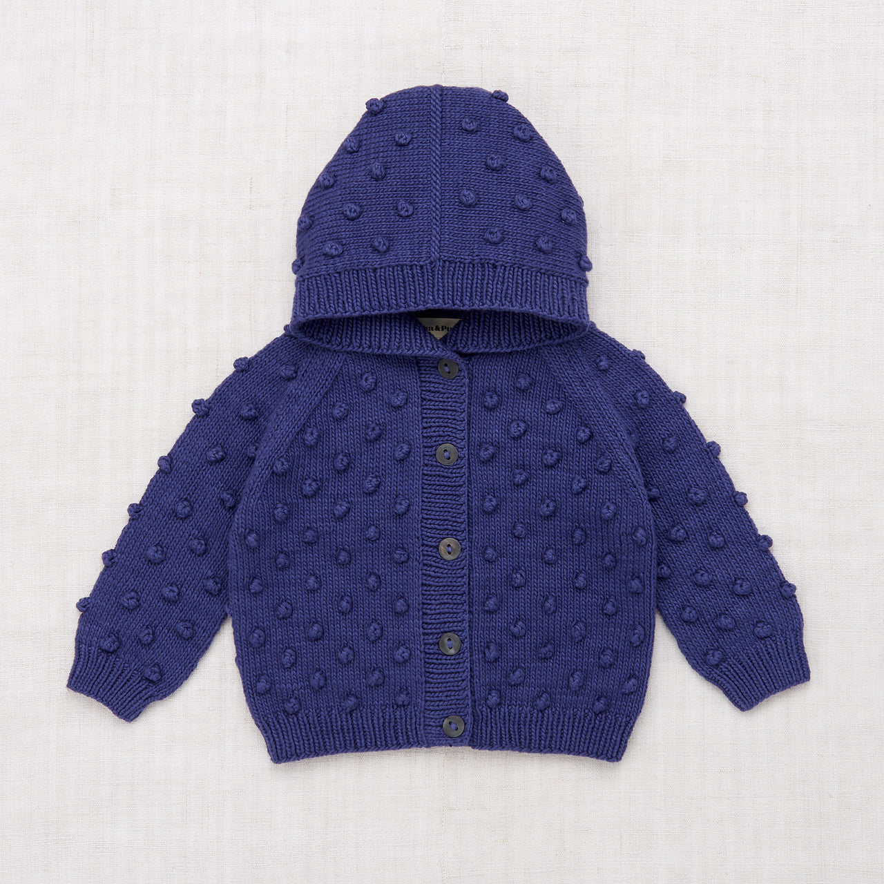 Hooded Popcorn Cardigan