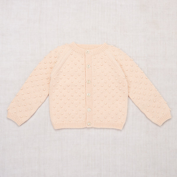 Faded Peach Summer Popcorn Cardigan