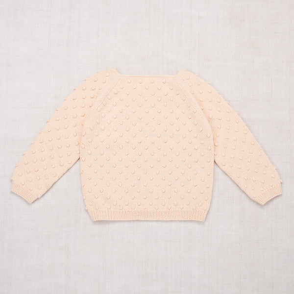 Faded Peach Summer Popcorn Sweater