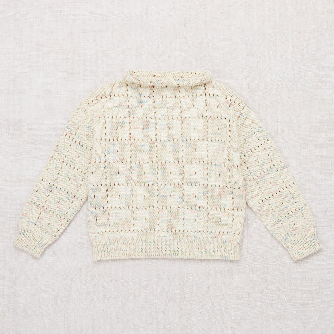 Windowpane Pullover - Faded Space Dye