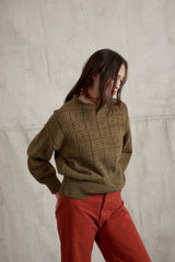 Adult Windowpane Pullover / Moss