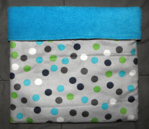 Sleeping Bag - Polka Dots on Gray