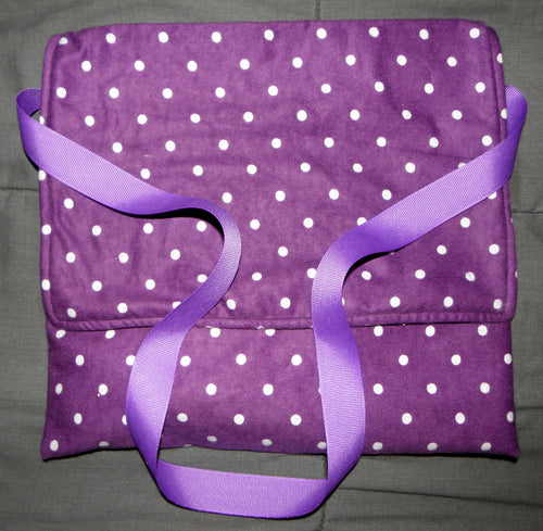 Carry Bag - Purple Polka Dots