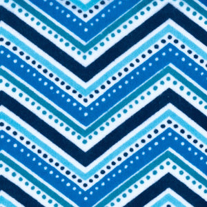 Sleeping Bag - Blue Chevron Dots