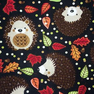 Sleeping Bag - Black Hedgehog Leaves