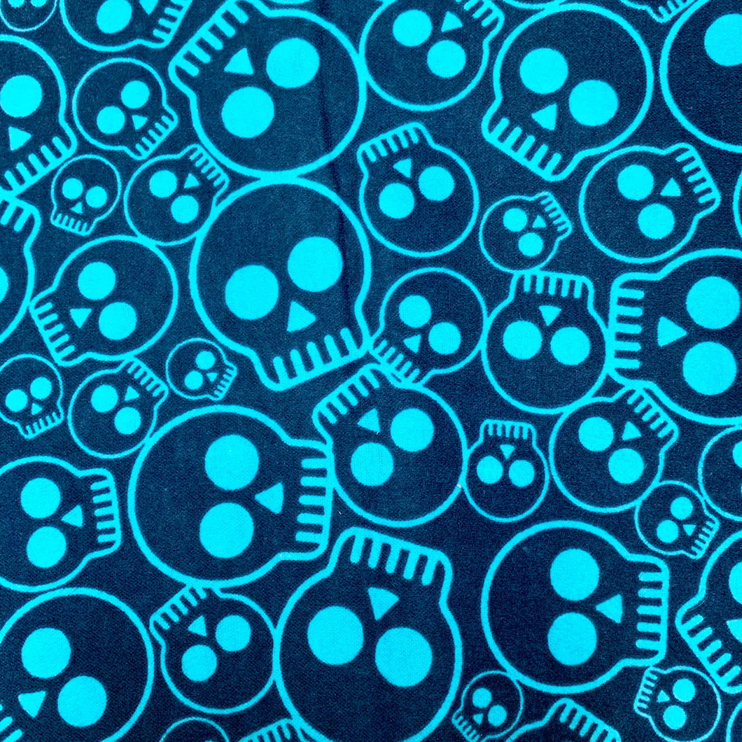 Sleeping Bag - Blue Skulls