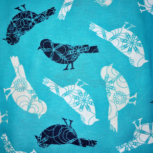 Sleeping Bag - Turquoise Birds