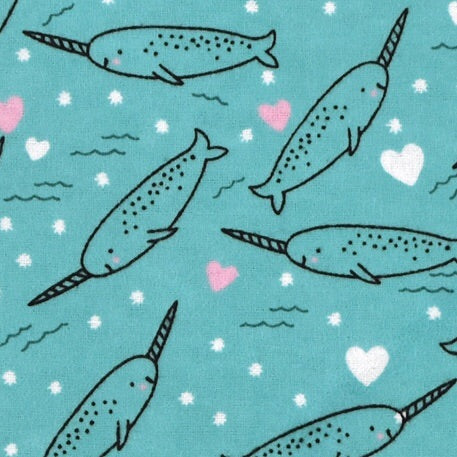 Sleeping Bag - Narwhal Hearts