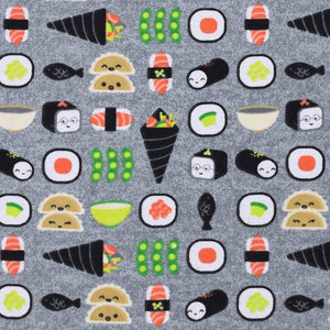 Sleeping Bag - Sushi and Dumplings on Gray