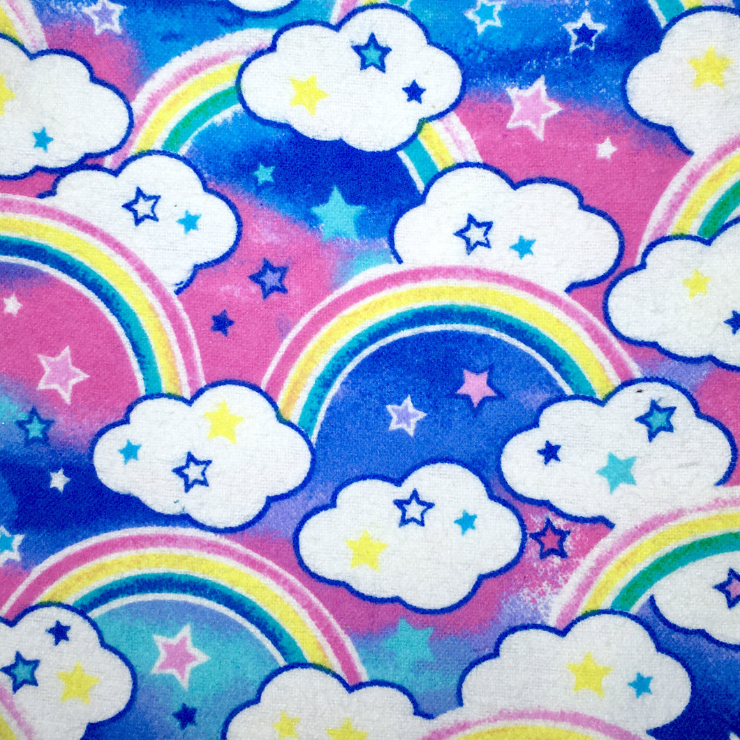Sleeping Bag - Rainbows Clouds Stars